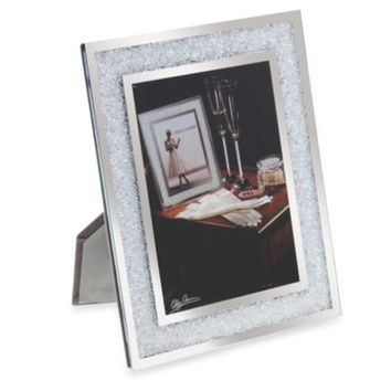 Oleg Cassini Crystal Diamond Collection 5-Inch x 7-Inch Picture Frame