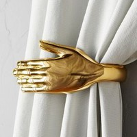 Handheld Tieback by Anthropologie in Shiny Brass Size: