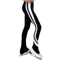 ChloeNoel White Black Swirl Leg Thick Ice Skating Pants 5-12 Adult XS-L
