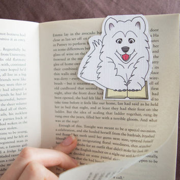 Magnetic bookmark of Spitz the Dog! Book accessories, Childrens art, School supplies, Book gift, Animal collectibles, BOOK FARM ANIMALS