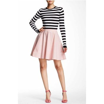 Solid Circle Skirt in Pink, petite size MP