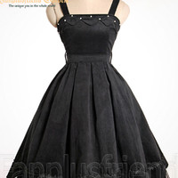 Classical Gothic Lolita Pleated Corduroy Dress/JSK*Instant Shipping