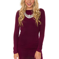 After Party Dress - Burgundy