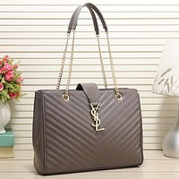 Perfect YSL Yves Saint laurent Women Fashion Leather Chain Satchel Shoulder Bag Handbag