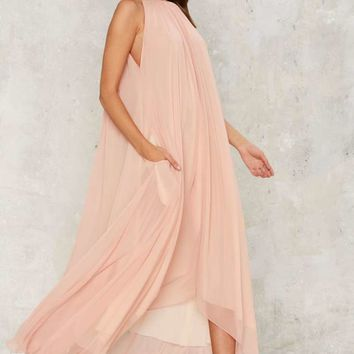 Hot as Hell Life's a Peach Maxi Dress