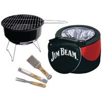 Jim Beam 5-Piece Cooler & Barbeque Grill Set