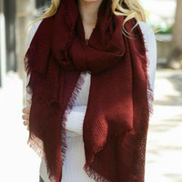 Open Grid Scarf - Multiple color options