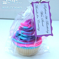 cotton candy cupcake, cotton candy party favors, cupcake favors, cotton candy soap, cotton candy pops, girls soap, dessert soap, novelty