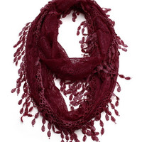 Cozy by LuLu - Holiday Spice Lace Infinity Scarf