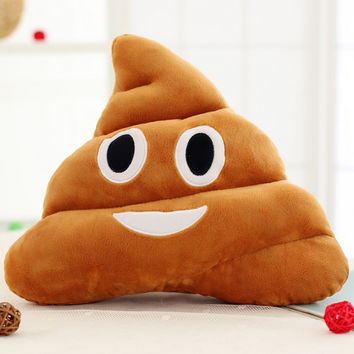18CM 25CM Cute Stuffed Plush Toy Doll Poop Pillow Poo Cojines Coussin Emotion Pillow Cushion Emoji Pillows