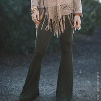 Cher Solid Flare Pants - Olive