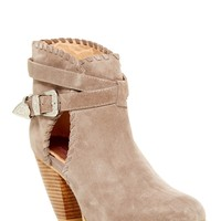 Olivia Cutout Leather Bootie