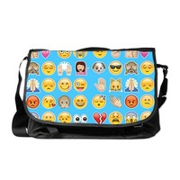 blue emoji Messenger Bag