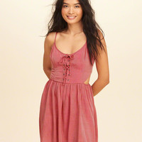 Girls Lace-Up Cutout Skater Dress | Girls Dresses & Rompers | HollisterCo.com
