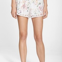 Women's MINKPINK 'Flower & Lace' Cover-Up Shorts,