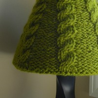 Lampshade Cover for small Target shade hand by lavenderhillknits