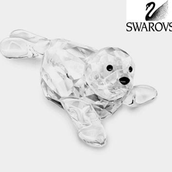 Swarovski Clear Crystal Figurine SCS BABY SEAL EVENT PIECE 2012 #1096748