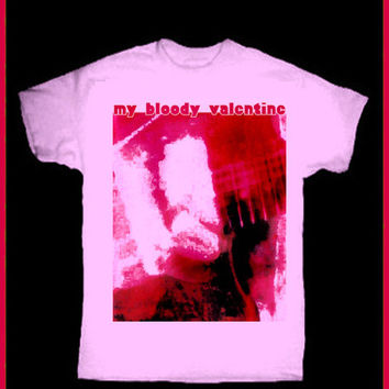 My Bloody Valentine T-Shirt! Vintage Repro 80's 90's  Rock n' Roll UK Creation Records Britpop Kevin Shields Punk Shoegaze