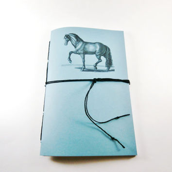 Graph Paper Notebook | Handbound Journal | Cute Notebook | Graphing Journal | Sketchbook | Grid Paper Notebook | Horse Notebook