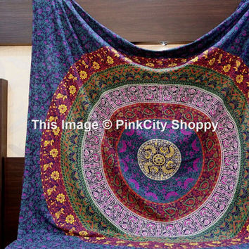 Mandala Tapestries, Large Mandala Wall Hanging, Bohemian Tapestries, Hippie Hippie Throw, Beach Blanket, Boho Tapestries, Queen Mandala Art