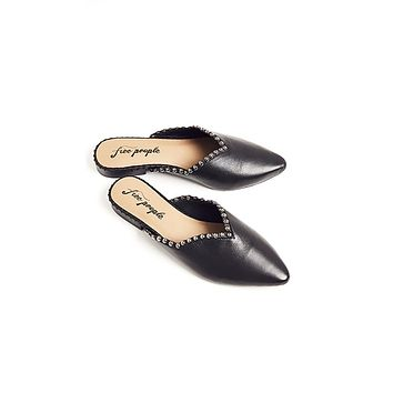 Free People Studded Newport Flats Black