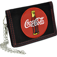 Coca-Cola Soda Coke Tri-fold Wallet with Chain Alternative Clothing
