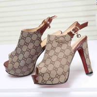 GUCCI Popular Princess High Heels High-Heeled Shoes Sandals I-KSPJ-BBDL
