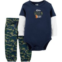 Child of Mine by Carter's Newborn Baby Boy Bodysuit and Pantset Set - Walmart.com