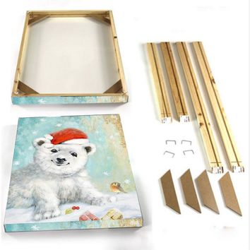 DIY Frame ONLY Custom Fir Wood Inner Stretcher For Canvas Oil painting and Poster Picture Photo Just the Frame NO Painting