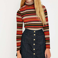 Urban Renewal Vintage Remnants Retro Roll Neck Top - Urban Outfitters