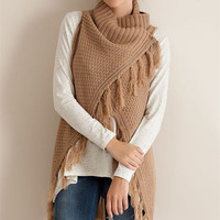 Open Sweater Vest - Taupe