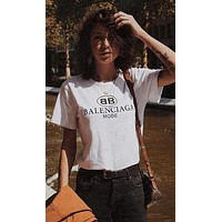 Summer Balenciaga T-shirt Top Blouse for Women Men