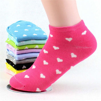 Womens Casual Sports Patchwork Ankle Socks (5 PCS)