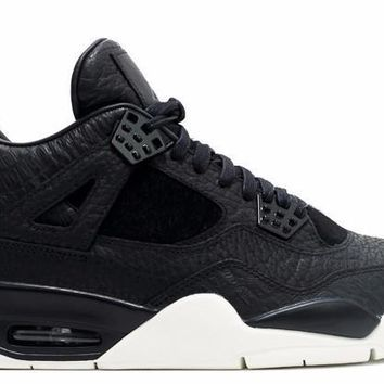 Jordan 4 Pinnacle Premium Black Pony Hair