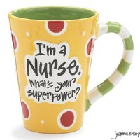 "Nurse 12 Oz Coffee Mug/cup with ""I'm A Nurse"" What's Your Super Power?"" Great Gift For Nurses"