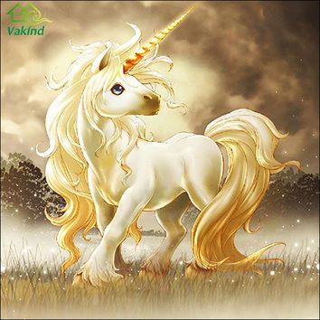 Unicorn Round Diamond Painting Cross Stitch Kits Diamond Mosaic