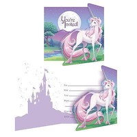 Unicorn Fantasy Invitations (8 Pack) - Party Supplies