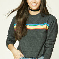 Rainbow-Stripe Sweatshirt