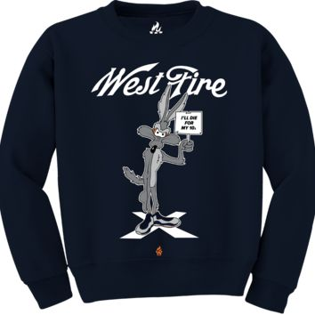 Jordan 10 Bobcat Die For My 10s Navy Crewneck