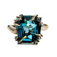 Midnight Marquis Fancy Cut Ring