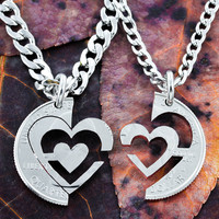 I Carry Your Heart Necklaces, couples jewelry