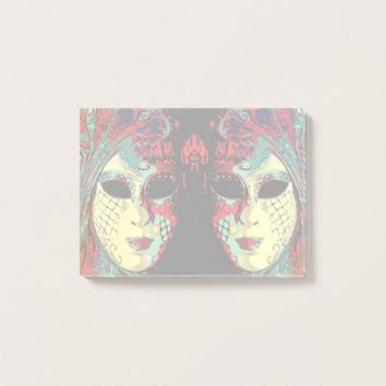 Venetian Lady Mask Post-it Notes