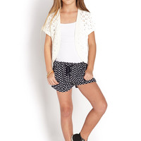 FOREVER 21 GIRLS Quirky Polka Dot Shorts (Kids)