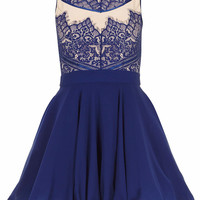 Eyelash Lace Skater Dress