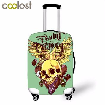 18-28 Inch Skull Luggage Protective Covers 3D Cool Punk Women Suitcase Cover Elastic Dust Trolley Case Cover Voyages Accessoires