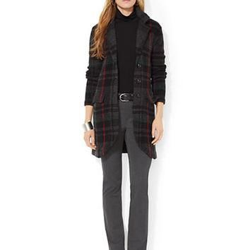 Lauren Ralph Lauren Petite Plaid Sweater Coat