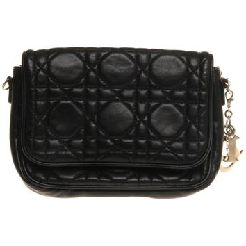 Christian Dior Black Mini Cannage WOC
