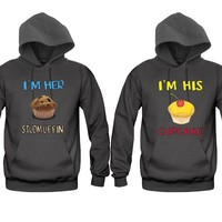 I'm Her Stud muffin - I'm His Cupcake Unisex Couple Matching Hoodies