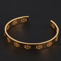 Tory Burch New fashion personality hollow opening bracelet Golden