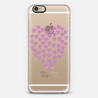 Hearts Heart Dark Pink Transparent iPhone 6 case by Project M | Casetify
